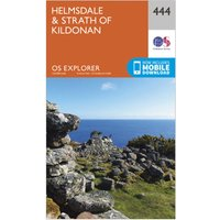 Ordnance Survey Explorer 444 Helmsdale & Strath of Kildonan Map With Digital Version, Orange