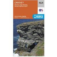 Ordnance Survey Explorer 464 Orkney Map With Digital Version, Orange