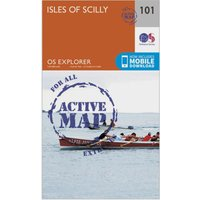 Ordnance Survey Explorer Active 101 Isles of Scilly Map With Digital Version, Orange