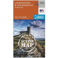 Ordnance Survey Explorer Active 112 Launceston & Holsworthy Map With Digital Version, Orange
