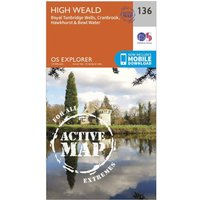Ordnance Survey Explorer Active 136 High Weald & Royal Tunbridge Wells Map With Digital Version, Orange