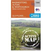Ordnance Survey Explorer Active 144 Basingstoke, Alton & Whitchurch Map With Digital Version, Orange