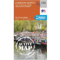 Ordnance Survey Explorer Active 173 London North Map With Digital Version, Orange