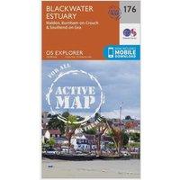 Ordnance Survey Explorer Active 176 Blackwater Estuary Map With Digital Version, Orange
