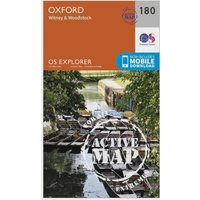 Ordnance Survey Explorer Active 180 Oxford, Witney & Woodstock Map With Digital Version, Orange