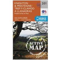 Ordnance Survey Explorer Active 201 Knighton & Presteigne Map With Digital Version, Orange