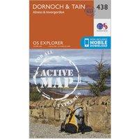 Ordnance Survey Explorer Active 483 Dornoch & Tain Map With Digital Version, Orange