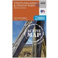Ordnance Survey Explorer Active 449 Strath Halladale & Strathy Point Map With Digital Version, Orange