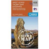 Ordnance Survey Explorer Active 458 West Lewis Map With Digital Version, Orange