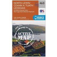 Ordnance Survey Explorer Active 460 North Lewis Map With Digital Version, Orange