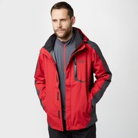 Jack Wolfskin Mens Positron Texapore Jacket, Red