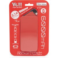 Ye Energy Pocket 2 Lightning Power Bank, Red
