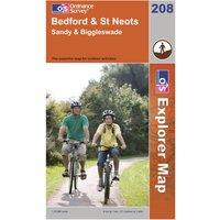 Ordnance Survey Explorer 208 Bedford & St Neots Map, Orange
