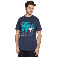 Weird Fish Mens Wave T-Shirt, Navy
