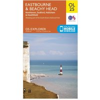 Ordnance Survey Explorer OL 25 Eastbourne & Beachy Head Map, Orange