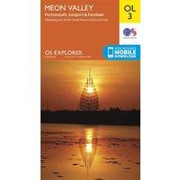 Ordnance Survey Explorer OL 3 Meon Valley Map, Orange