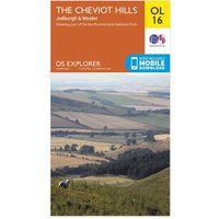 Ordnance Survey Explorer OL16 The Cheviot Hills Map, Orange