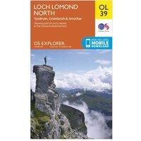 Ordnance Survey Explorer OL 39 Loch Lomond North Map, Orange