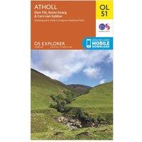 Ordnance Survey Explorer OL 51 Atholl Map, Orange