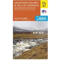Ordnance Survey Explorer OL 61 Grantown-on-Spey & Hills of Cromdale Map, Orange