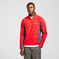 Berghaus Mens Hartsop Half-Zip Micro Fleece, Red