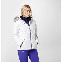 Salomon Womens Icetown Ski Jacket, White