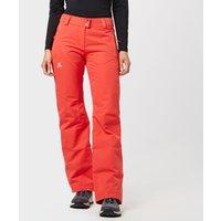 Salomon Womens Stormspotter Ski Pants, Orange