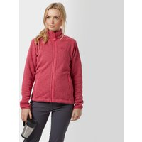 Jack Wolfskin Womens Caribou Full Zip Fleece, Pink