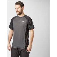 Peter Storm Mens Short Sleeve Tech T-Shirt, Dark Grey