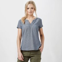 Royal Robbins Womens Cool Mesh T-Shirt, Blue