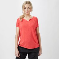 Royal Robbins Womens Noe Capped Sleeve T-Shirt, Coral