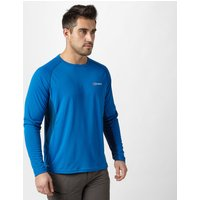 Berghaus Mens Long Sleeve Tech Tee, Mid Blue