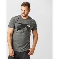 The North Face Mens Nuptse T-Shirt, Dark Grey