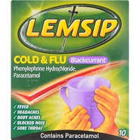 Lemsip Cold & Flu Blackcurrant Sachets