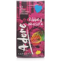 Adore Ribbed Pleasure Condoms