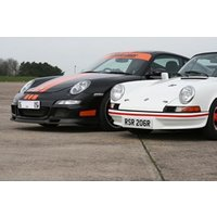 Classic And Modern Porsche 911 Driving Blast