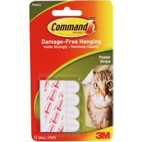 3M Command Adhesive Poster Strips (12 Pack)