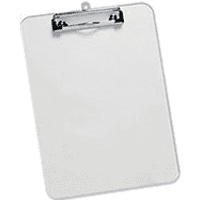 5 Star A4 Clear Plastic Clipboard