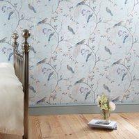 dorma maiya duckegg wallpaper duck egg blue