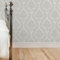 charlotte damask silver wallpaper silver