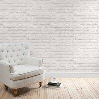 white brick wallpaper white