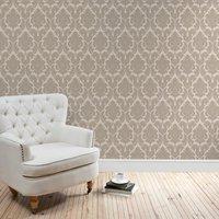 natural versailles wallpaper natural brown
