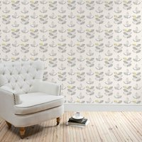 elements leaf wallpaper grey