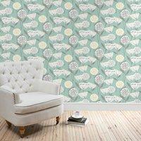 emmott teal wallpaper teal (blue)