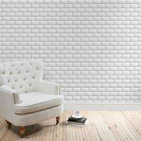 metro tile wallpaper white