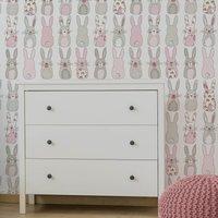 katy rabbit pink wallpaper pink