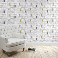 elements houses wallpaper grey
