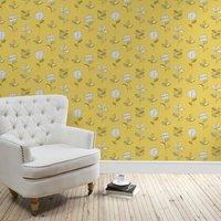 elements sunflower wallpaper ochre