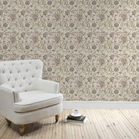 gorse floral wallpaper natural
