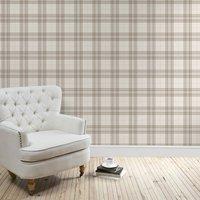 cabin check wallpaper natural